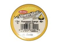 PowerBait Natural Scent Glitter Garlic/Ail Fluorescent Orange