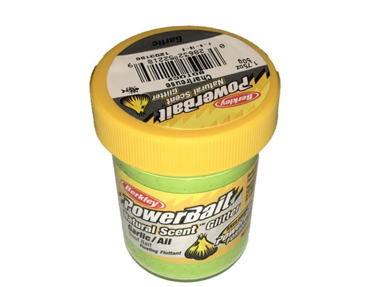 PowerBait Natural Scent Glitter Garlic/Ail Chartreuse